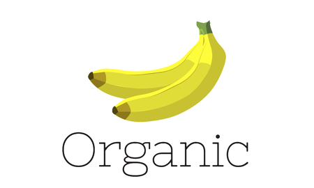 Illustration of fresh organic delicious banana 版權商用圖片