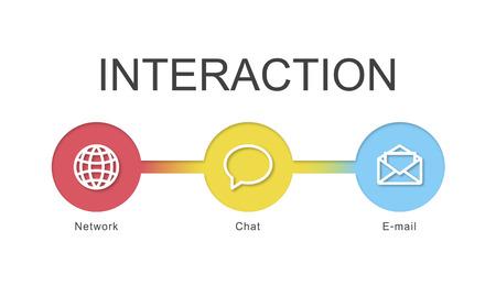 Graphic with interaction concept Archivio Fotografico - 113991665