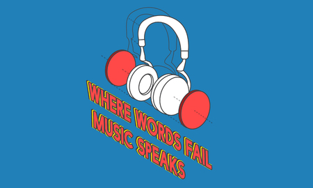 Muziek entertainment hoofdtelefoon pictogram grafisch