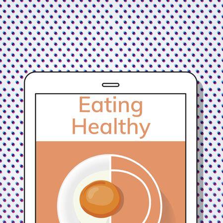 健康食品料理メニュー レシピのイラスト