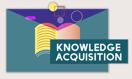 Connaissance de l & # 39 ; éducation wisdom wisdom textbook textbook Banque d'images - 82353994