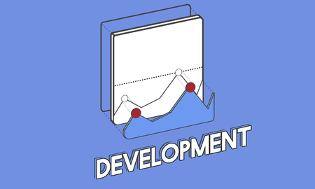 Graphic with development concept
