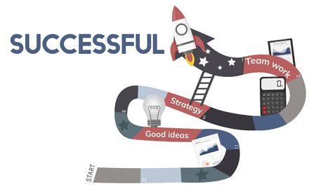Business Planning Management Mission Teamwork Achievement Ladder Illustration Stock Illustration - 82354016