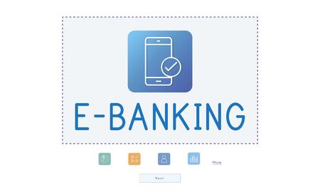 E-Banking App Approved Chart Data Analysis 版權商用圖片