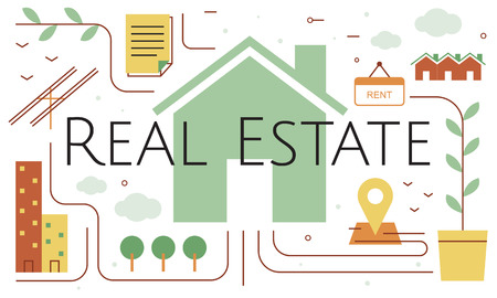 Real Estate Housing Brokerage Concept