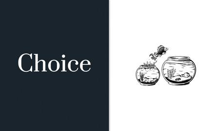 Challange 決定オプション チャンス選択コンセプト