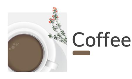コーヒー カップの装飾、商業カフェのイラスト