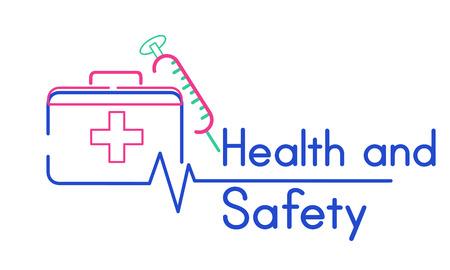 Erste-Hilfe-Box Gesundheitswesen Behandlung Grafik Standard-Bild - 82354105