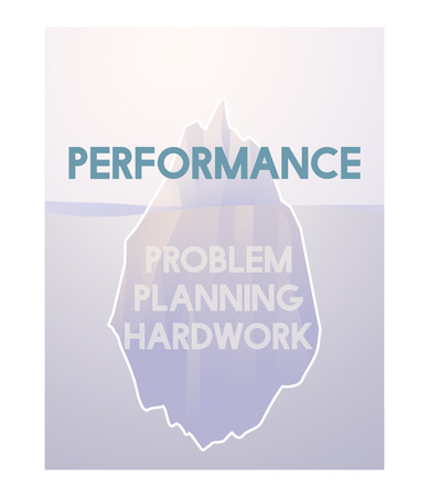 Problem Planning Hard Work Achievement Iceberg Graphic Фото со стока