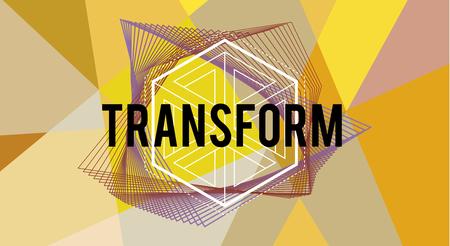 Transformeer Word pictogram ontwerp grafisch concept