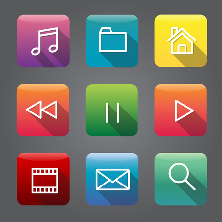 storage: Technology Digital Device Icon Vector Concept Illustration