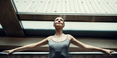 Ballerina Practice Ballet School Concept Фото со стока