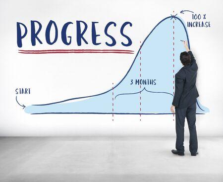 information analysis: Progress Report Analytics Strategy Concept