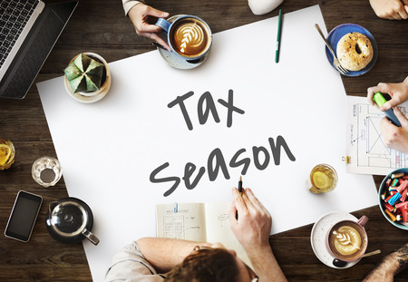 Tax Time Season Finance Concept Stock Photo