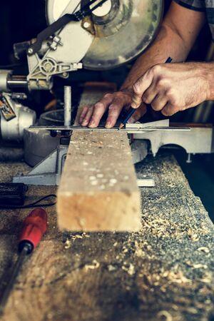 Carpenter carpenteria legname legname Lavorazione di concetto di legname Archivio Fotografico - 82701464
