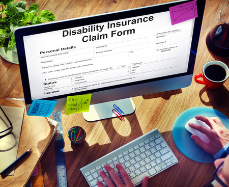 Disability Insurance Claim Form Document Concept Imagens - 82728107