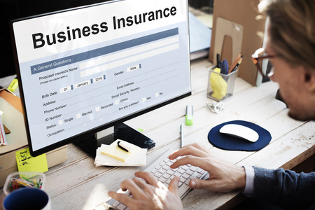 Business Insurance Benefit Document Concept Stock Photo