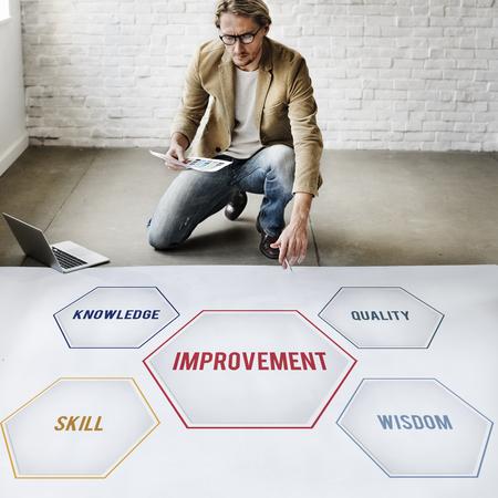 Improvement Success Training Geometric Forms Graphic Stock Photo