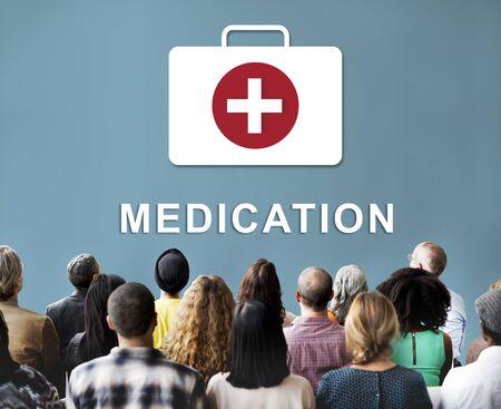 Medicatie Gezondheidszorg Eerste hulp Concept Stockfoto