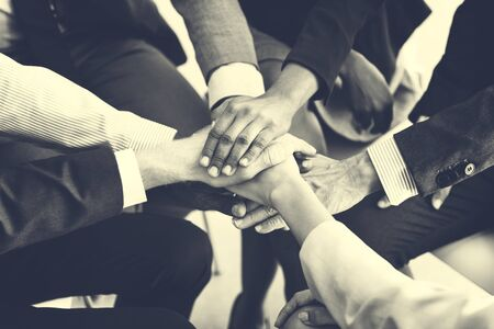 Business Team Stack Hands Support Concept Stock Photo