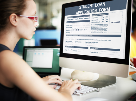 Student Loan Application Form Concept Stock Photo Picture And