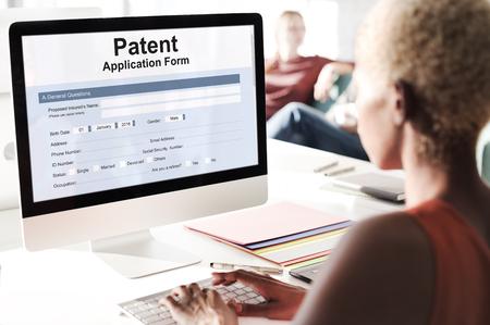 Patent Protection Intellectual Property Conept Foto de archivo