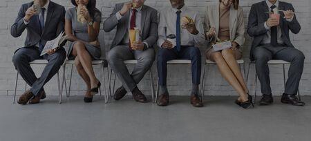 junk: Business Team Working Break Eating Lunch Concept
