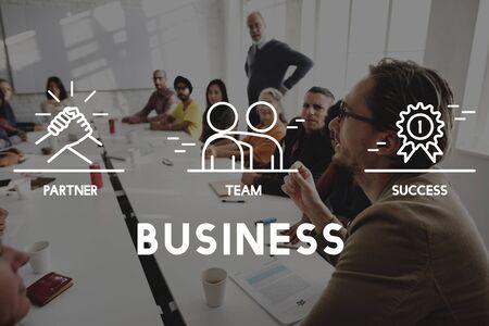 Business Collaboration Teamwork Corporation Concept Stock fotó