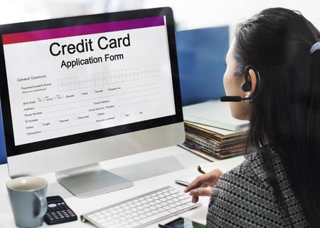 Creditcard Aanvraagformulier Concept Stockfoto