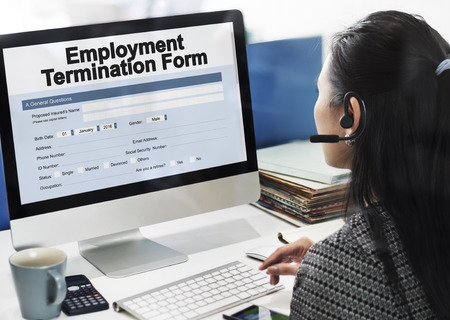 Employment Termination Form Document Concept Stock Photo