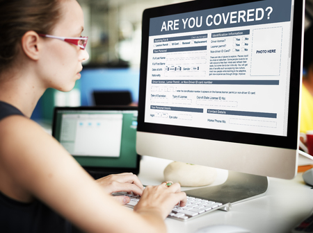 Are You Covered Insurance Application Concept Stock Photo