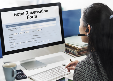 Hotel Booking Reservation Form Concept
