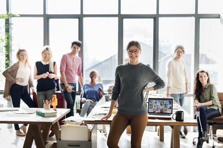 information analysis: Business Team Brainstorming Workspace Concept
