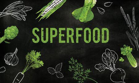 自然の野菜の健康的な生活のスーパー フード