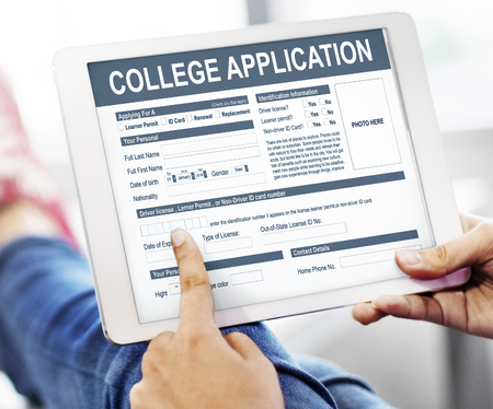 College Application Form Education Concept