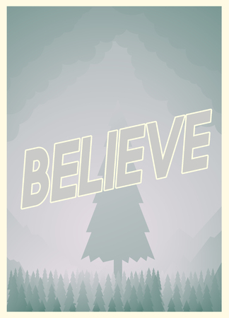 Graphic with believe concept Imagens