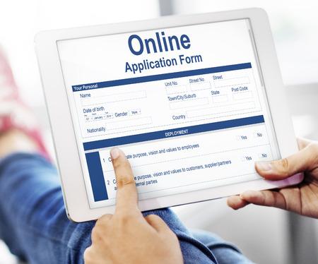 Online Application Form Info Detail Concept Stok Fotoğraf