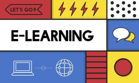 E-learning Education Internet Study Concept Zdjęcie Seryjne