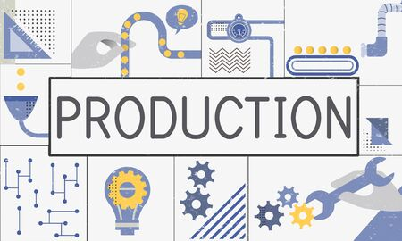 Manufacture Production Industry Ideas Concept Imagens