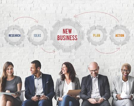 新しいビジネス戦略ターゲット コンセプト 写真素材
