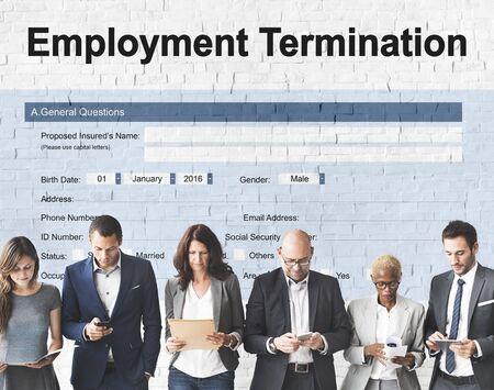 Werkgelegenheid Beëindiging Form Document Concept