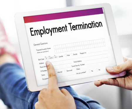 Werkgelegenheid Beëindiging Formulier Document Concept