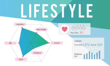 Graphic with lifestyle concept
