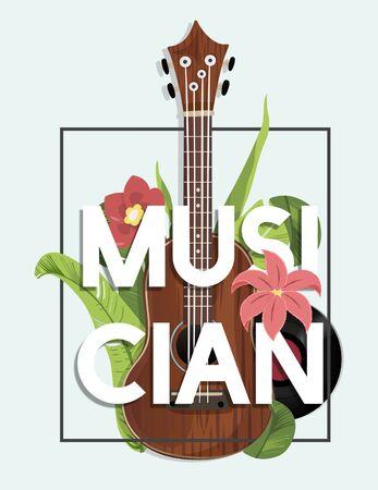 Muziek recreatie gitaar chill melodie Stockfoto