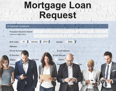 Mortgage Loan Pawn Pledge Refinance Insure Concept Reklamní fotografie