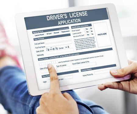 Rijbewijsidentificatieconcept