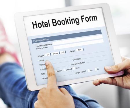 Hotel Reservierung Reservierung Form Konzept