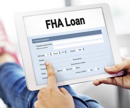 FHA Loan Finance Mortgage Form Application Concept
