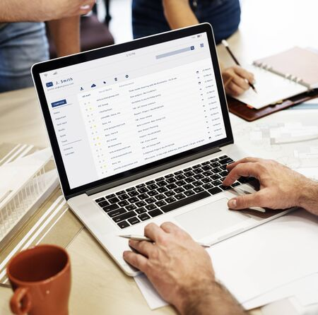 webmail: Email inbox message list online interface