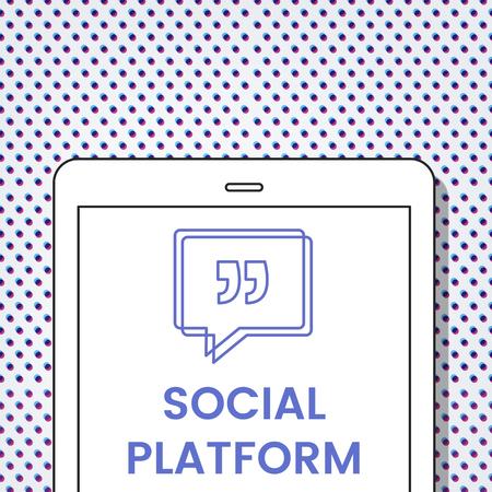 Social Platform Speech Bubble with Quotation Mark